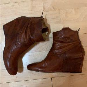 Frye Carson Wedge Bootie. $65